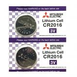 Mitsubishi CR2016 Lithium Cell Button Battery (2 Pieces)