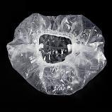 Potable Disposable Transparent Elastic Shower Hair Cap (10 Pieces)