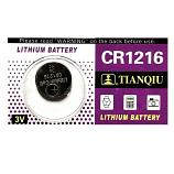 TIANQIU CR1216 Lithium Cell Button Battery (1 Pieces)