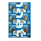 Renata 394 SR936SW AG9 SR45 SR936 Button Silver Oxide Battery (6 Piece)