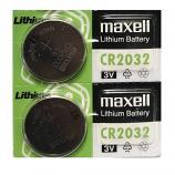 Maxell CR2032 Lithium Cell Button Battery (2 Pieces)