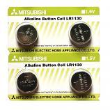 Mitsubishi LR1130 AG10 SR1130SW 189 GP89A 389 Alkaline Button Battery (4 Pieces)