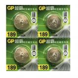 GP LR54 AG10 SR1130SW LR1130 189 GP89A 389 Button Alkaline Battery (4 Pieces)