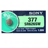 Sony muRata 377 SR626SW AG4 LR66 1.55V Button Silver Oxide Battery (1 Piece)