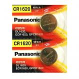 Panasonic CR1620 Lithium Cell Button Battery (2 Pieces)
