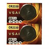 VSAI CR2330 Lithium Cell Button Battery (2 Pieces)