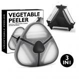 3 in 1 Stainless Steel 430 Fruit Vegetable Peeler with Standard Serrated Julienne Blade