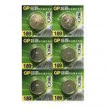 GP LR54 AG10 SR1130SW LR1130 189 GP89A 389 Button Alkaline Battery (6 Pieces)