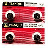 TIANQIU AG5 SR754SW LR754 LR48 193 GP93A 393 Button Alkaline Battery (4 Pieces)