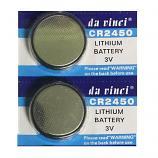 DaVinci CR2450 Lithium Cell Button Battery (2 Pieces)