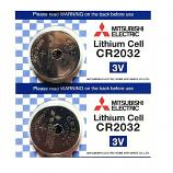 Mitsubishi CR2032 Lithium Cell Button Battery (2 Pieces)