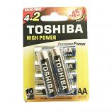 Toshiba High Power Alkaline 1.5V AA Batteries (6 Pcs)