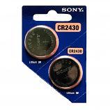 Sony CR2430 Lithium Cell Button Battery (2 Pieces)