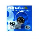 Renata 362 SR721SW SR58 SR721 1.55V Button Silver Oxide Battery (6 Pieces)