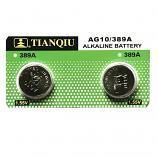 TIANQIU AG10 SR1130SW LR1130 189 GP89A 389 Button Alkaline Battery (2 Pieces)