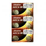 VSAI AG10 SR1130SW LR1130 189 GP89A 389 Button Alkaline Battery (6 Pieces)