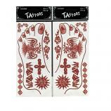 Temporary Foot Brown Color Glitter Style Tattoos Sticker (1 Pair)
