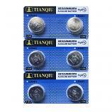 TIANQIU AG13 SR44SW LR44 A7a6 GP76A 357 Alkaline Button Battery (6 Pieces)