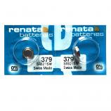 Renata 379 SR521SW SR63 SR521 Button Silver Oxide Battery (2 Pieces)