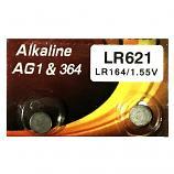 VSAI AG1 SR621SW LR621 364 Button Alkaline Battery (2 Pieces)