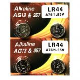 VSAI AG13 SR44SW LR44 A7a6 GP76A 357 Button Alkaline Battery (4 Pieces)
