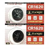 TIANQIU CR1620 Lithium Cell Button Battery (2 Pieces)