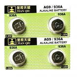 TIANQIU AG9 SR936SW LR936 LR45 394 Alkaline Button Battery (4 Pieces)
