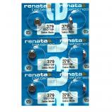 Renata 379 SR521SW SR63 SR521 Button Silver Oxide Battery (6 Pieces)