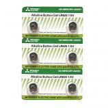 Mitsubishi LR626 AG4 SR626SW 177 GP77A 377 Button Alkaline Battery (6 Pieces)