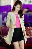 Slim Smart Jacket Dress Up for the Office or Use to Smarten Up a Casual Look (White XXL)