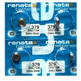 Renata 379 SR521SW SR63 SR521 Button Silver Oxide Battery (4 Pieces)