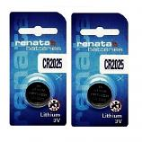 Renata CR2025 Lithium Cell Button Battery (2 Pieces)