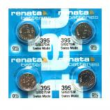 Renata 395 SR927SW SR57 SR927 Button Silver Oxide Battery (4 Pieces)