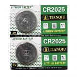 TIANQIU CR2025 Lithium Cell Button Battery (2 Pieces)