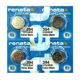 Renata 394 SR936SW AG9 SR45 SR936 Button Silver Oxide Battery (4 Piece)