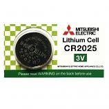 Mitsubishi CR2025 Lithium Cell  Button Battery (1 Piece)