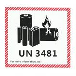 UN3481 IATA DG Hazard Label Class 9 Lithium Battery (1000 Pieces)