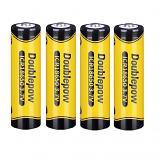 Doublepow 18650 1200mAh LSD Li-on Rechargeable Pointed Head Battery (4 Pieces)