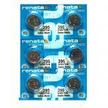 Renata 395 SR927SW SR57 SR927 Button Silver Oxide Battery (6 Pieces)