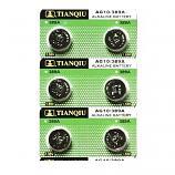 TIANQIU AG10 SR1130SW LR1130 189 GP89A 389 Button Alkaline Battery (6 Pieces)