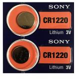 Sony CR1220 Lithium Cell Button Battery (2 Pieces)