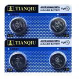 TIANQIU AG13 SR44SW LR44 A7a6 GP76A 357 Alkaline Button Battery (4 Pieces)