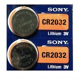 Sony CR2032 Lithium Cell Button Battery (2 Pieces)