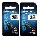 Renata CR1025 Lithium Cell Button Battery (2 Pieces)