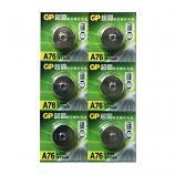 GP LR44 AG13 SR44SW A7a6 GP76A 357 Alkaline Button Battery (6 Pieces)