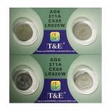 T&E AG6 SR920SW LR920 371 Button Alkaline Battery (4 Pieces)