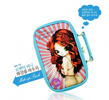 Funnymade Korean Cute and Functional Cosmetic & Jewelry Pouch Model 02 (Light Blue)