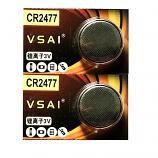 VSAI CR2477 Lithium Cell Button Battery (2 Pieces)