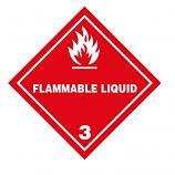IATA DG Hazard Label Class 3 Flammable Liquid (50 Pieces)
