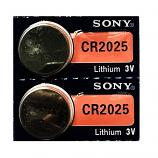 Sony CR2025 Lithium Cell Button Battery (2 Pieces)